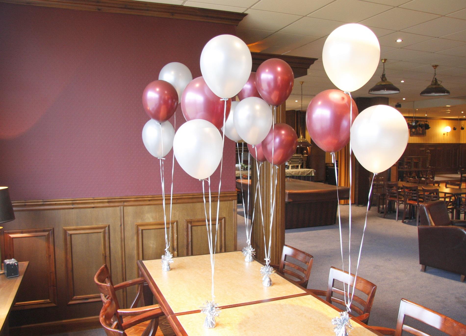 Ballonnentrossen van 3 tot 50 for Ballonnen tafels